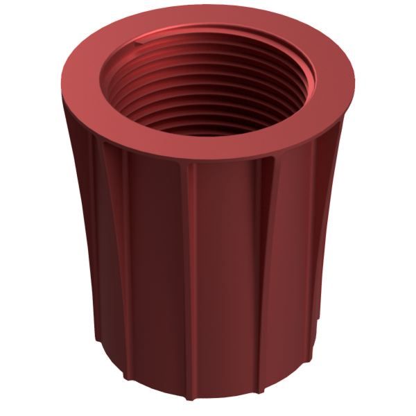 Light Fitting Ribbed Red