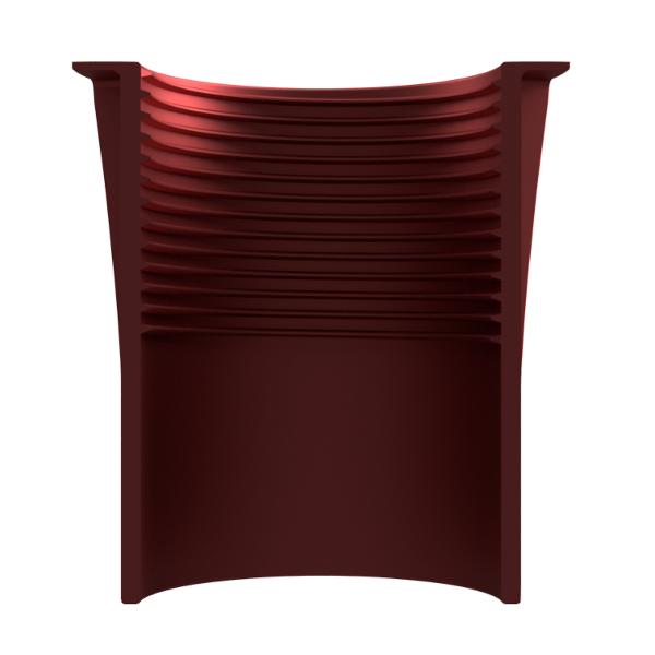 Light Fitting Ribbed Red Cutaway