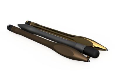 3D Printed Metal Pens Gold Natural Bronze Side