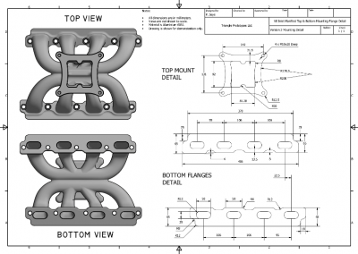 Lightweight V8 Supercharger Manifold Concept MOUNTING DRAWING