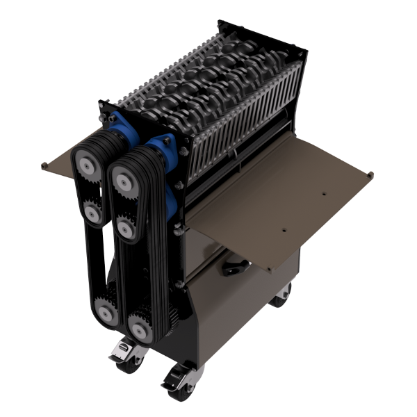Shredder Assembly Isometric View Panels Open